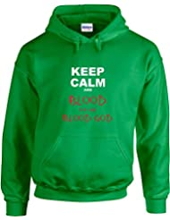 Keep Calm and Blood For The Blood God, Gedruckt Hoody - Pullover