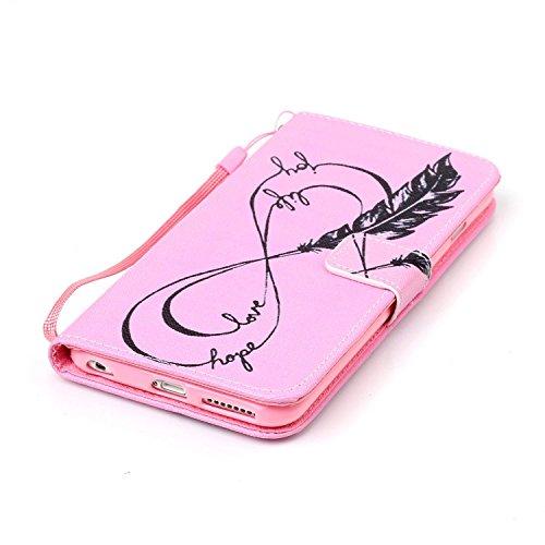 Meet de Apple iPhone 6 6S (4,7 Zoll) Bookstyle Étui Housse étui coque Case Cover smart flip cuir Case à rabat Apple iPhone 6 6S (4,7 Zoll) Coque de protection Portefeuille - éléphant ethnique Plume