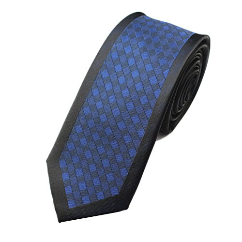 Z-P Mens Retro Blue Lattice Luxury Microfiber Necktie Knit Polyester Skinny Tie (Weiß Formale Satin Tuxedo Weste)