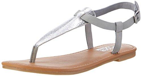 Tommy Hilfiger Damen S1385USY 1C Offene Sandalen mit Keilabsatz, Silber (Silver-Light Grey 903), 38 EU