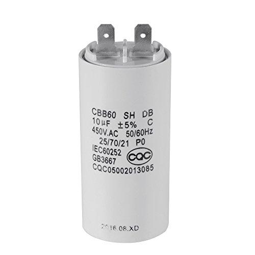 XCSOURCE® Waschmaschine CBB60 10uF AC 450V Motor Run Kondensator Weiß Shell HS838 - Motor Run Kondensator