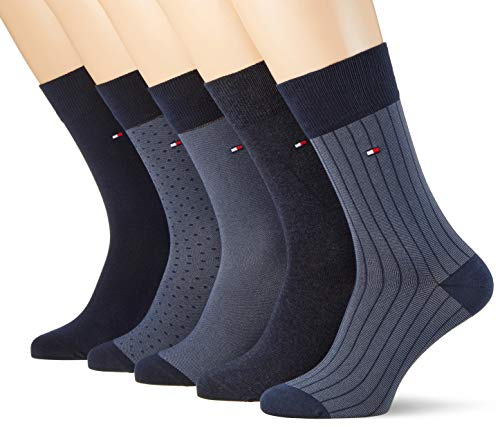 Tommy Hilfiger Herren Socken TH Men BIRDEYE Box 5P, 5er Pack, Blau (Dark Navy 322), 43/46