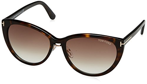 Tom Ford Damen FT0345 5752F Sonnenbrille, Braun, 57