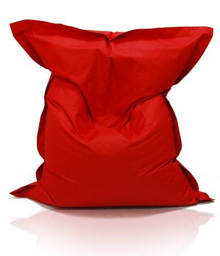 Kinzler S-10026/32 XXL Riesensitzsack, 140x180 cm, Sitzsack Outdoor Indoor, in vielen verschiedenen Farben, mit Innensack, rot