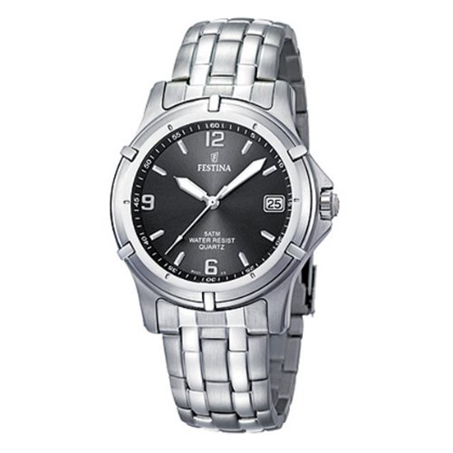 Festina Men Analogue Watch with Grey Dial Analogue Display and Stainless steel plated - F8920/2