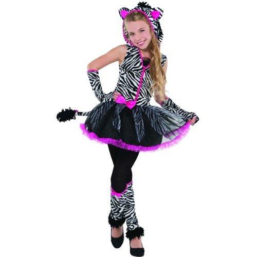 Amscan New Kids Sassy Streifen Mädchen Kostüm Teens Party - Teen Zebra Kostüm