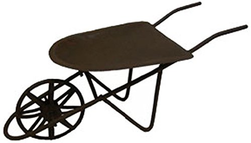 Craft Outlet Tin Wheelbarrow, 9.5 by 4-Inch