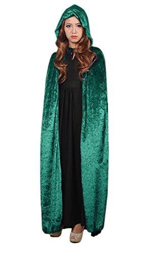 LifeWheel Halloween Sensenmann Umhang Karneval Fasching Kostüm Tod umhänge Cosplay Hexen Robe (Grüne Hexe Halloween Kostüm)