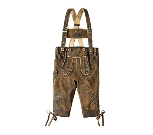 Stockerpoint - Kinder Trachten Kniebund Lederhose mit Träger, Fritz Gr: 122-152, Größe:122/128, Farbe:Stein Geäscht
