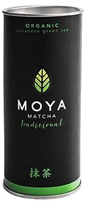 Moya Matcha Thé Vert Poudre du Japon | 30g Traditional Très Haute Qualité (II) | 100% Agriculture BIO Certifié | Récolté dans la Région Uji | à Utiliser avec de L'eau, du Jus ou du Lait