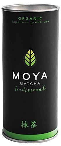 Organische Moya Matcha Tee Grün Traditionelle (II) Klasse 30 g - Perfekt für das Trinken mit Wasser, Milchkaffee, Smoothies & Limonaden