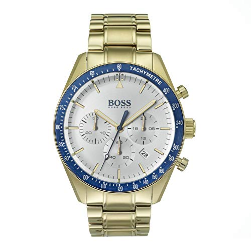 Hugo Boss Watch Herren Chronograph Quarz Uhr mit Paqué or Armband 1513631