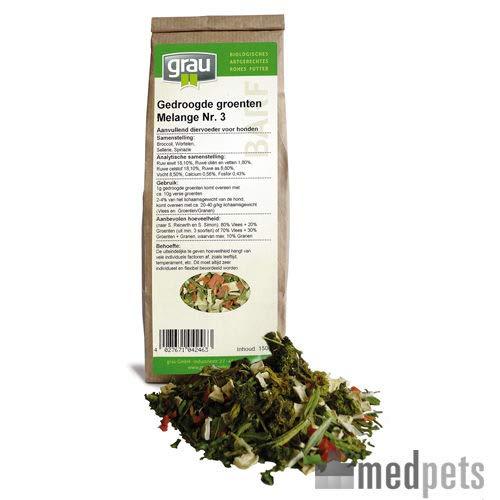 Grau Getrocknete Gemüsse Melange Nr. 3-1,2 kg -