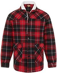 Bruno Galli Mens Check Fleece Lumberjack Winter Jacket