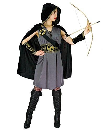 SEA HARE Frau mit Kapuze Jägerin Kostüm (L) (Für Erwachsene Jägerin Kostüm)