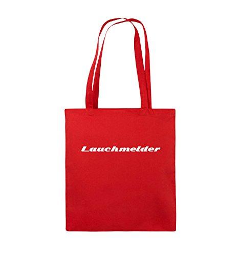Comedy Bags - Lauchmelder - Jutebeutel - lange Henkel - 38x42cm - Farbe: Schwarz / Weiss Rot / Weiss