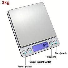 Balanzas Balanza Balanza de cocina LCD cargada 500 g / 0.01 g Balanza recargable de asado