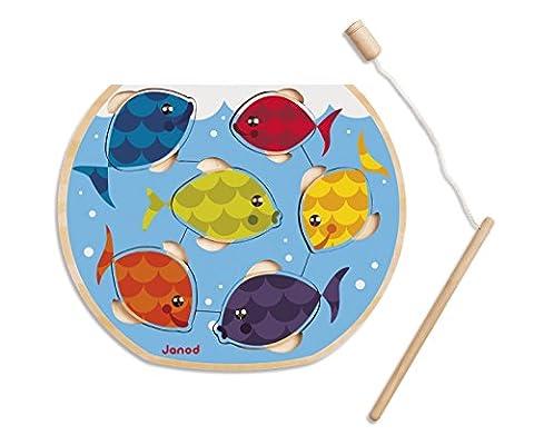 Janod - J07008 - Puzzle Bois Speedy Fish 6 pcs