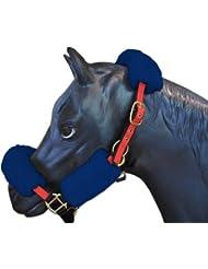 ENGEL GERMANY Protector de la nariz caballo (cabezada / cabestros) piel de cordero azul (Nase)