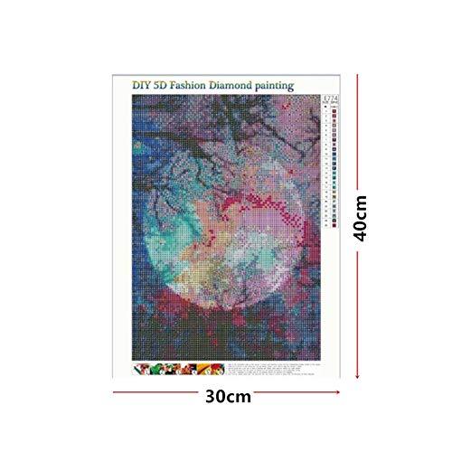 Yalatan Diamond Painting Kits für Erwachsene, DIY 5D Square Vollbohrer Kunst perfekt für Entspannung und Home Wall Decor (12 x 16 Zoll)
