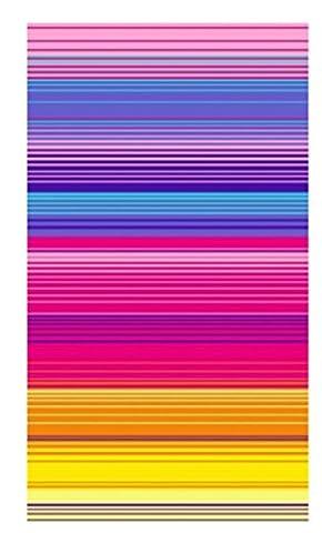 100% Pure Cotton Luxury Rainbow Stripe Blue, Pink Beach Towel - Modern Design, 75x150cms