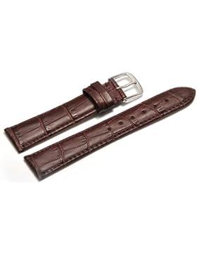 Uhrenarmband - Orig. Watchband Berlin - Kroko Prägung - bordeaux - 22mm