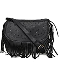Toniq Faux Leather Black Miranda Sling Bag