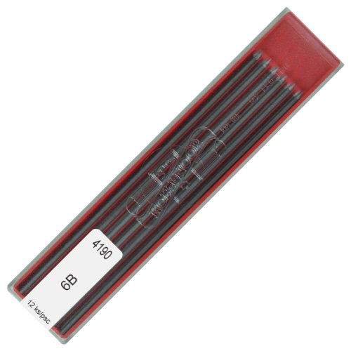Bleistiftminen - 2 mm - Bleistift Minen - 6B - KOH-I-NOOR Graphitminen