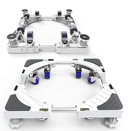 Universal-Movable Adjustable Mobile Base für Gefrierschrank Waschtrockner Ständer mit 8 Locking Gummi Schwenkerräder Anti Vibration Mute Wagen Roller Dolly Trolley
