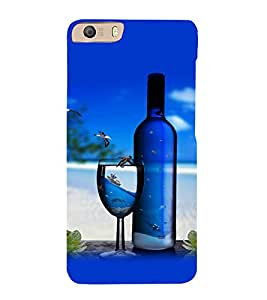 printtech Beach Drink Bottle Wine Back Case Cover for Micromax Canvas Knight 2 E471