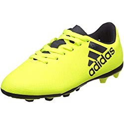 Adidas X 17.4 FxG J, Zapatillas de Fútbol para Niñas, Multicolor (Solar Yellow/Legend Ink/Legend Ink), 37 1/3 EU