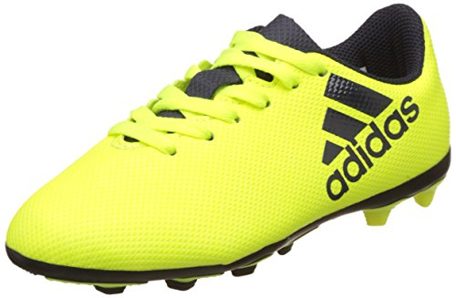 adidas X 17.4 FxG J, Chaussures de Football garçon, Multicolore (Solar Yellow/Legend F17/legend Ink F17), 36 EU