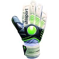 uhlsport Ergonomic Supersoft Graphite Goal Keeper's Gloves, Unisex, Torwarthandschuh Ergonomic Supersoft Graphit