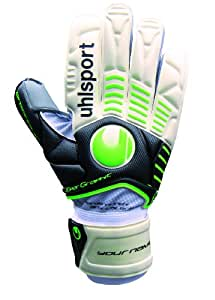 Uhlsport Supersoft Graphit Gants ergonomiques de gardien de but 9 Blanc - weiss/schwarz/grün flash