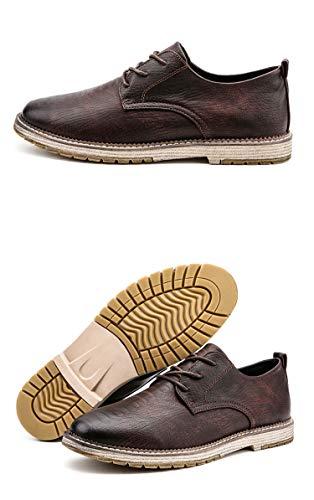 Zapatos de Piel Estilo Punk para Hombre con Zapatos de Cuero de...