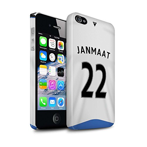 Offiziell Newcastle United FC Hülle / Glanz Snap-On Case für Apple iPhone 4/4S / Pack 29pcs Muster / NUFC Trikot Home 15/16 Kollektion Janmaat