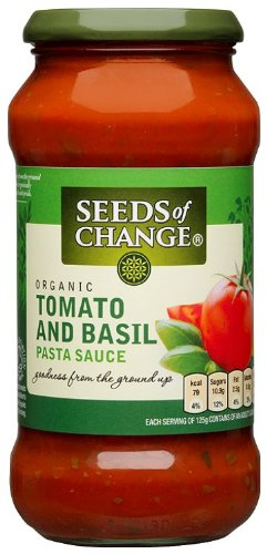 Seeds of Change Organic Tomato and Basil Pasta Sauce 500 g (Pack of 6)
