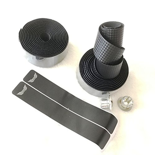 Carbonlook Lenkerband Bar Tape Rennrad Griffe, Kork Rennrad Griffe, Kork hochwertig (Schwarz)