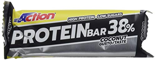 Proaction protein bar 38% (cocco, confezione da 16 barrette da 80 g)