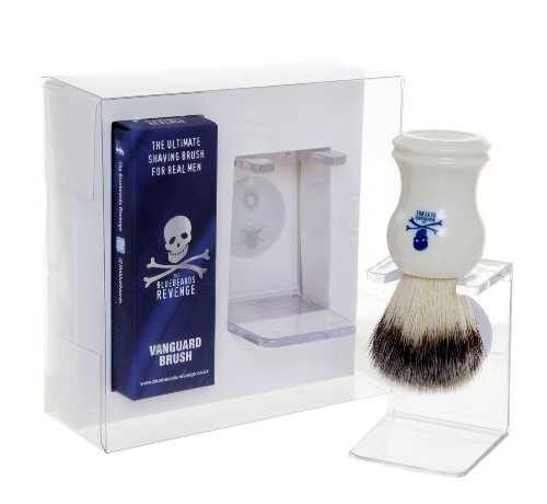 The Bluebeards Revenge Vanguard Synthetic Shaving Brush and Drip Stand -