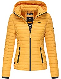 Marikoo SAMTPFOTE Damen Steppjacke - Leichte Gesteppte Jacke Übergangsjacke  mit Kapuze XS-XXL 5303ae1af5