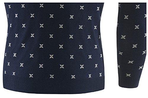 ... BOMOVO Herren Rundhals Weihnachten Strickpullover mit Rentier Retro  Sweater Slim Fit dark blau