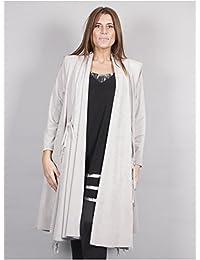 Edmond Boublil - Vêtement Femme Grande Taille Gilet Frange Gris