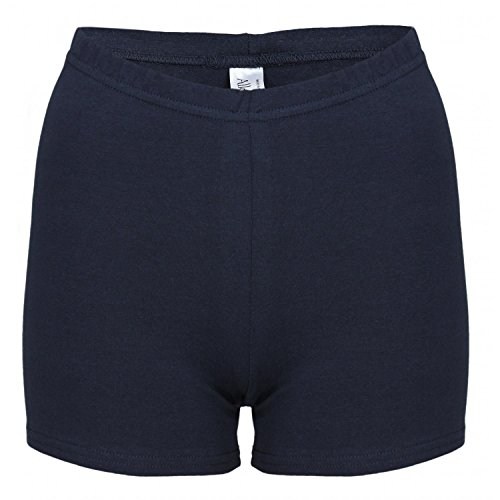 Alkato Alkato Damen Shorts Hotpants Blickdicht Stretch, Farbe: Dunkelblau, Größe: 36