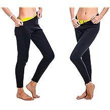 De las mujeres Apretado Adelgazamiento Caliente Térmico Pantalones de neopreno Sudor Pantalones de sauna Traje