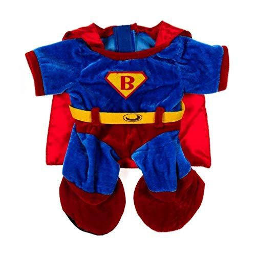 Superman Kostüm Bösewicht - Superbear Kostüm für 40 cm Plüsch - Kleidung für Teddybär Stofftier Plüschtier