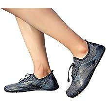 5416c397fe944 Btruely Zapatos de Agua Deportes Escarpines para Hombre Mujer Zapatillas de  Surf Playa Natación Yoga Piscina
