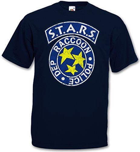 VINTAGE S.T.A.R.S. LOGO T-SHIRT - Raccoon City Resident Police Dep Evil T-Shirt Taglie S - 5XL