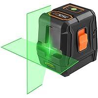 Nivel Láser Verde, Tacklife SC-L07G Nivelador Autonivelante cruzado de 30m, Láser de líneas automática 110° horizontal/vertical,IP54, un soporte magnético