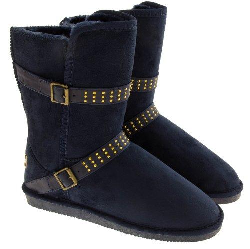 Footwear Studio , Bottes de neige femme Bleu Nuit